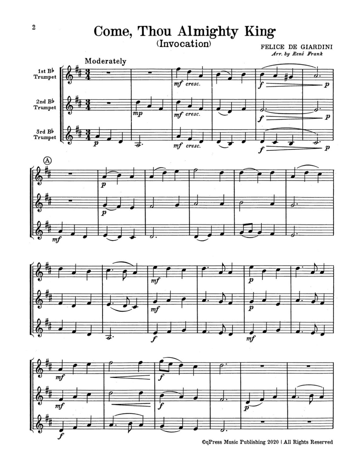 Frank, Voice of Trumpets, Hymn Fantasies for Three Instruments-p06