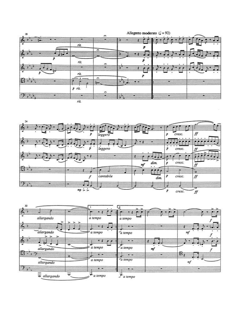 Meilflormont Dance for Brass Quintet