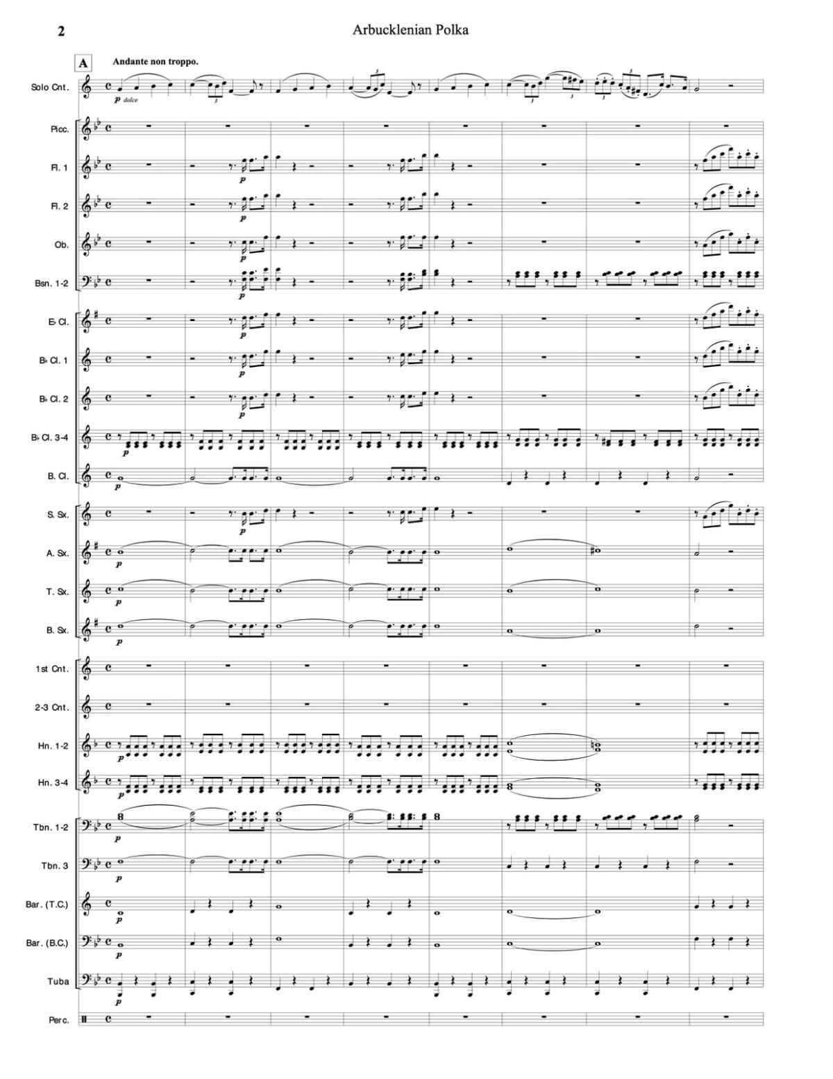 Hartmann, Arbucklenian Polka for Cornet and Band-p094