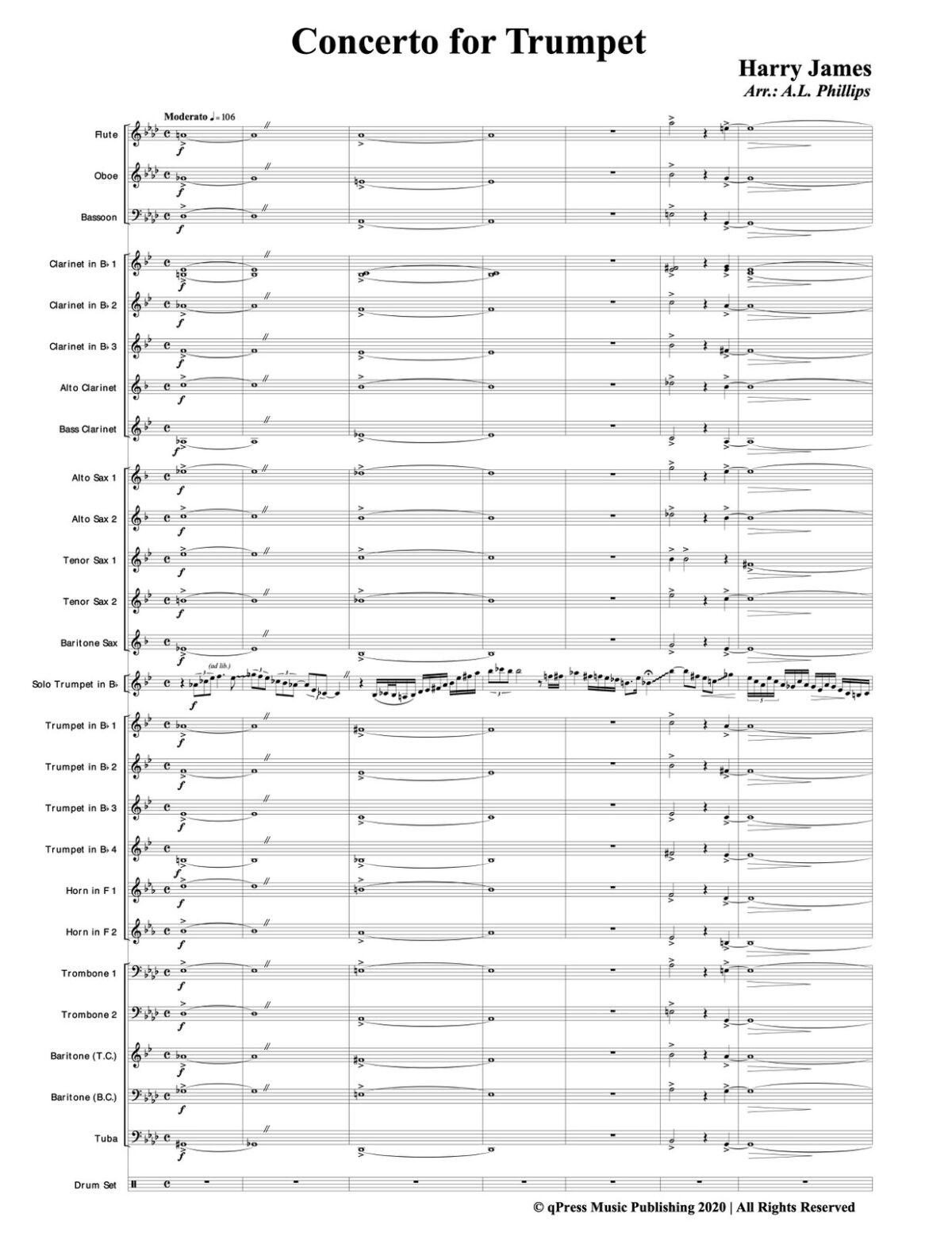 James, Concerto for Trumpet and Wind Band-p57