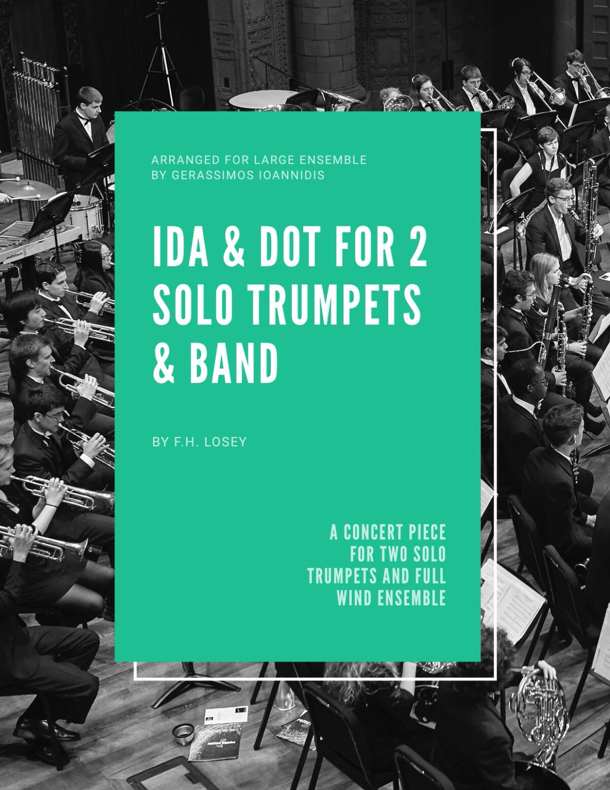 Losey, Ida & Dot for 2 Solo Trumpets and Band-p01