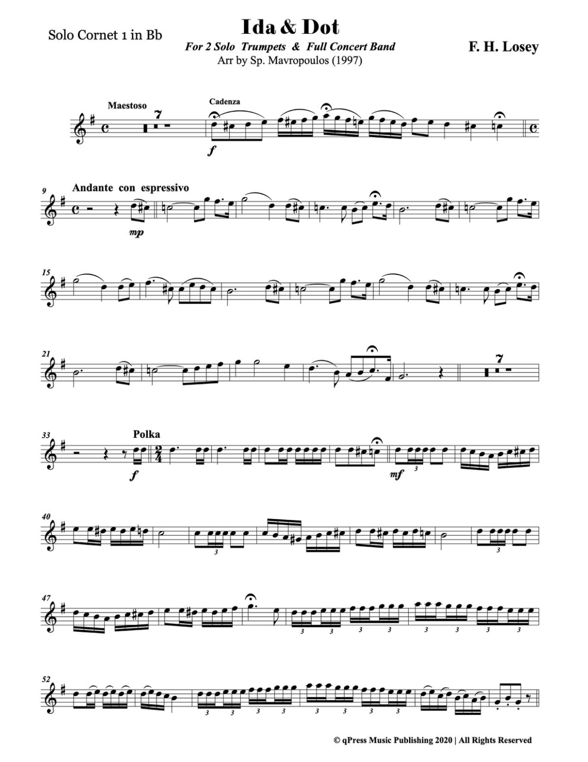 Losey, Ida & Dot for 2 Solo Trumpets and Band-p03