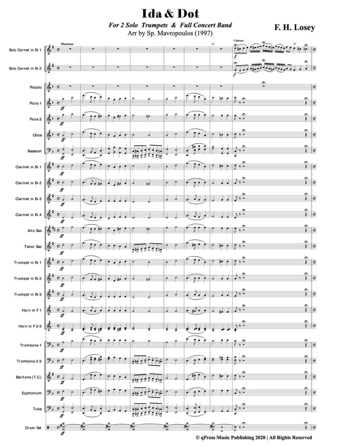 Losey, Ida & Dot for 2 Solo Trumpets and Band-p43