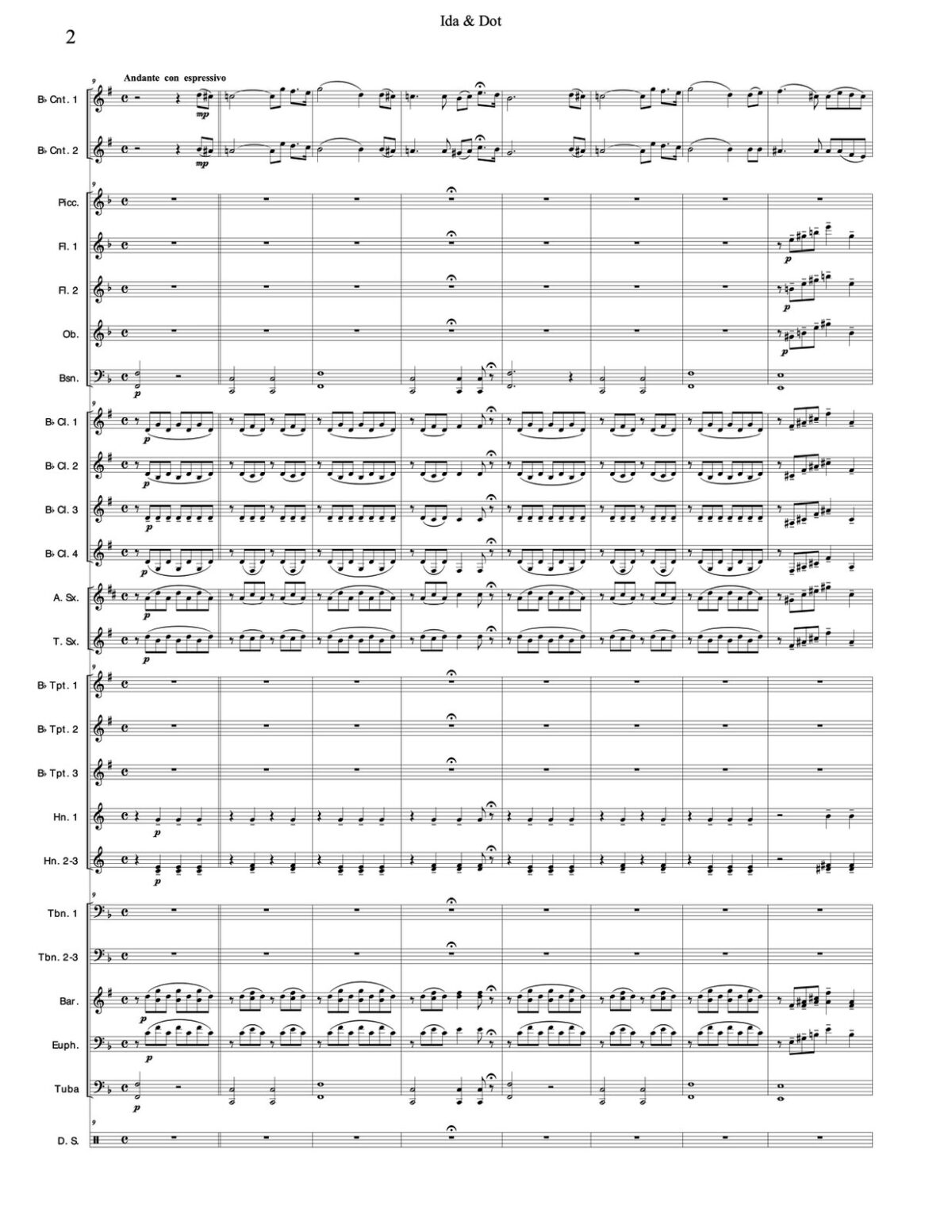 Losey, Ida & Dot for 2 Solo Trumpets and Band-p44