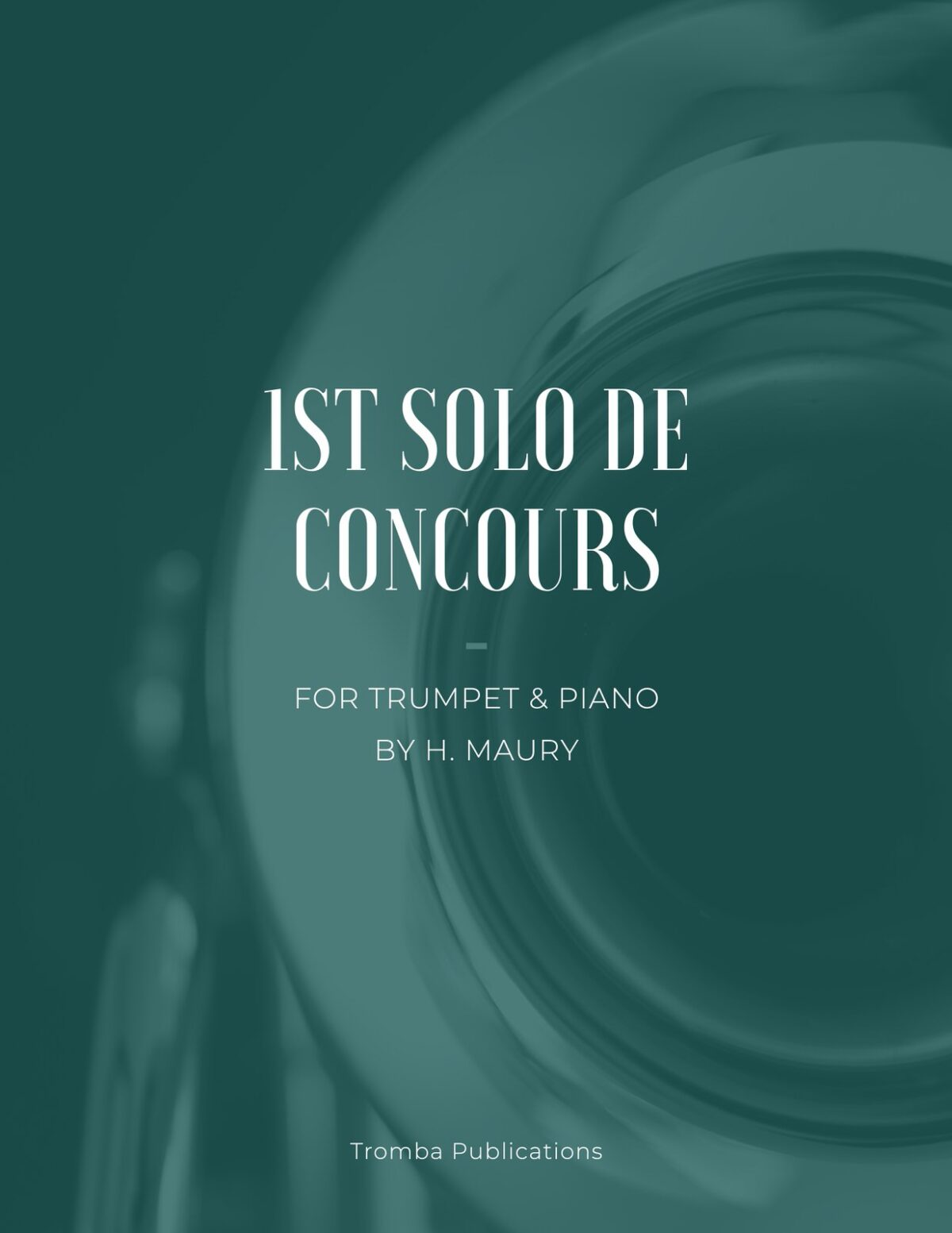 Maury, 1st Solo de Concours for Trumpet and Piano-p01