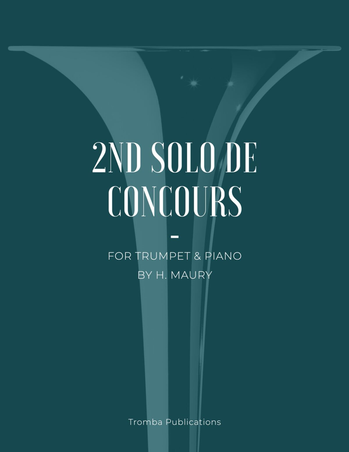 Maury, 2nd Solo de Concours for Trumpet and Piano-p01