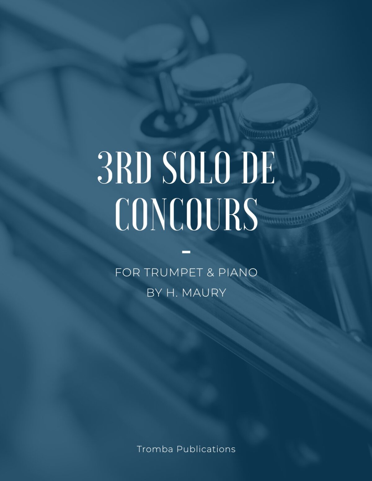 Maury, 3rd Solo de Concours for Trumpet and Piano-p01