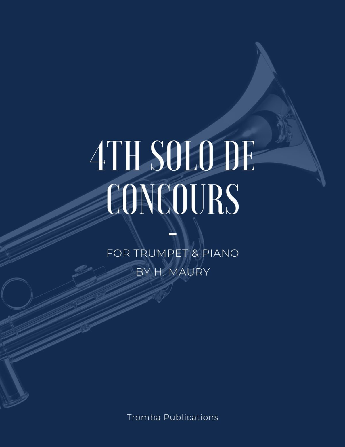 Maury, 4th Solo de Concours for Trumpet and Piano-p01