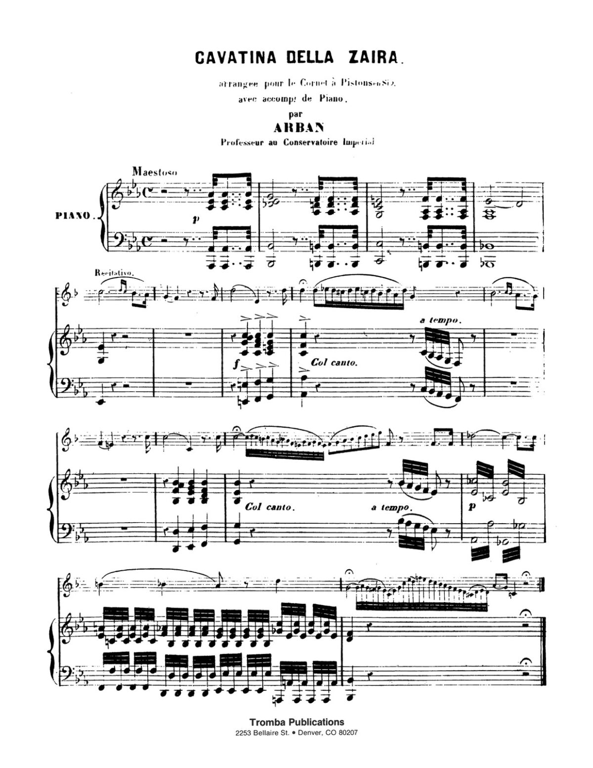 Mercadante arr. Arban, Cavatina from Zaïra-p07