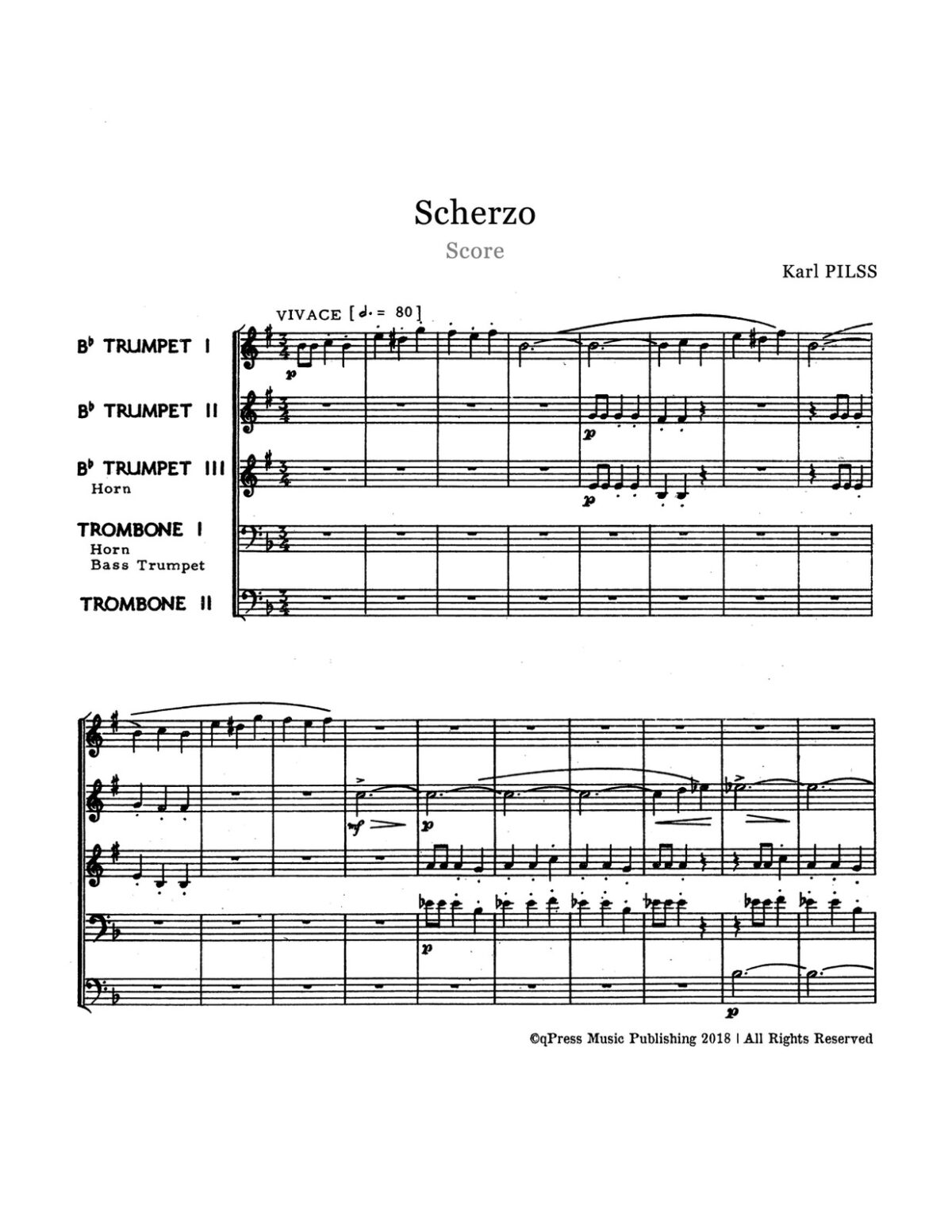Pilss, Scherzo for Brass Quintet-p18