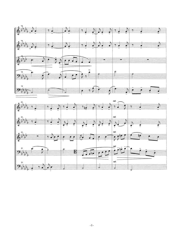 "Che Gelida Manina from ""La Boheme"" for Brass Quintet"