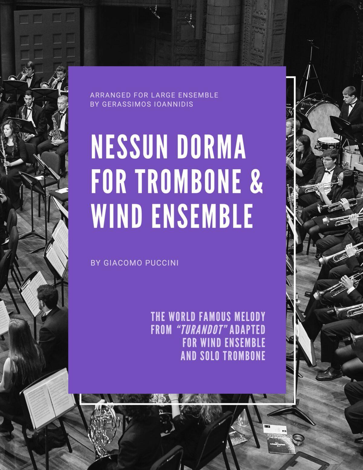 Puccini, Nessun Dorma for Trombone and Wind Ensemble-p01