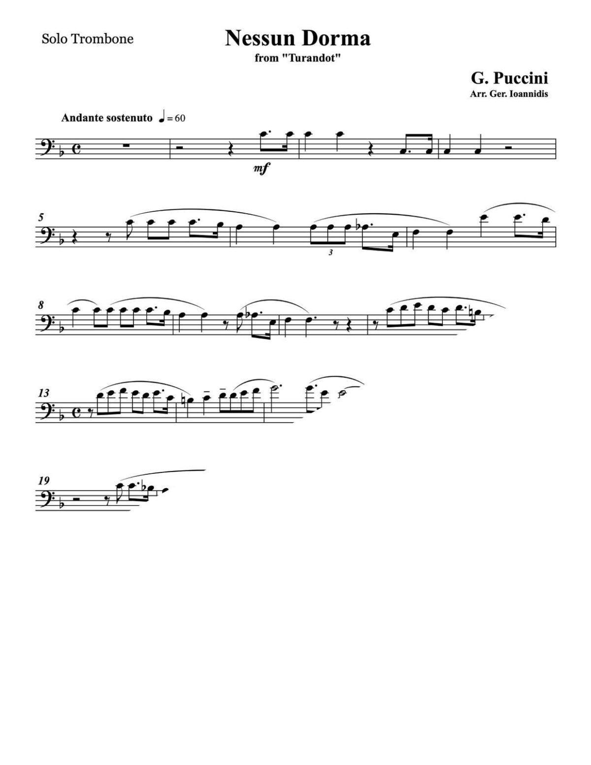Puccini, Nessun Dorma for Trombone and Wind Ensemble-p03