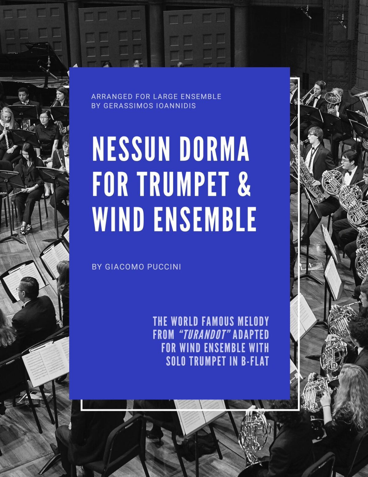 Puccini, Nessun Dorma for Trumpet and Wind Ensemble-p01