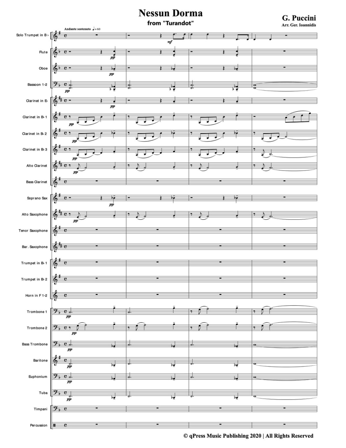 Puccini, Nessun Dorma for Trumpet and Wind Ensemble-p51