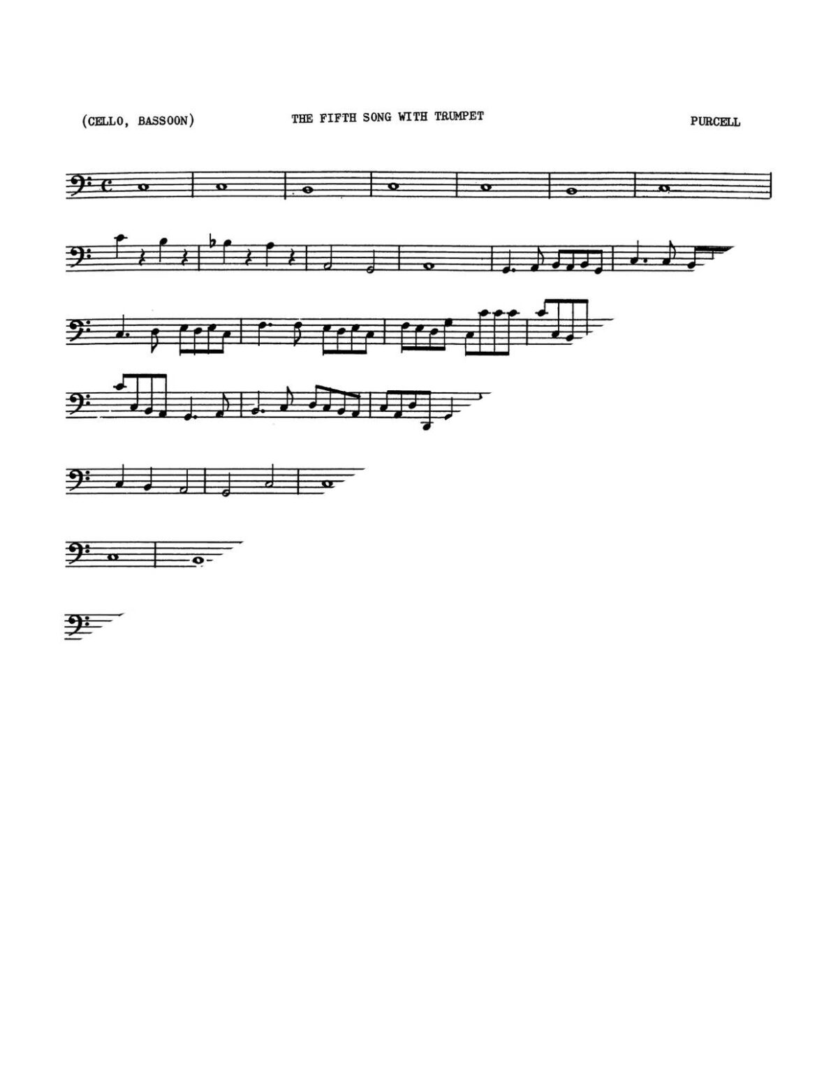 Purcell, Two Songs for High Voice and Trumpet-p05
