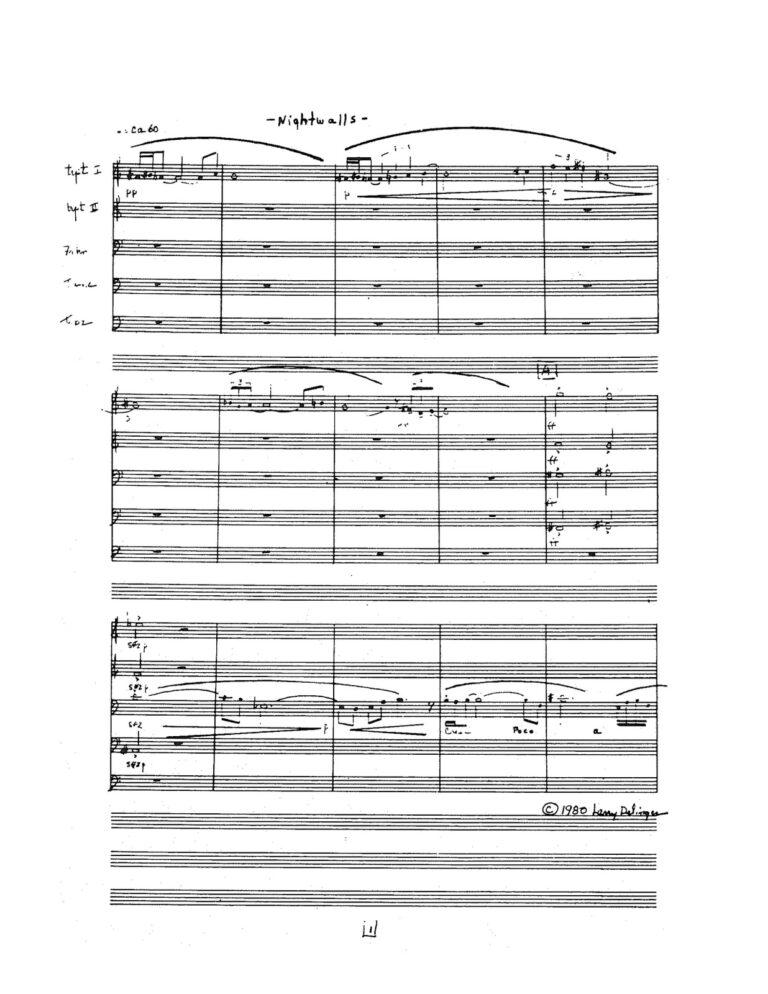 Nightwalls for Brass Quintet