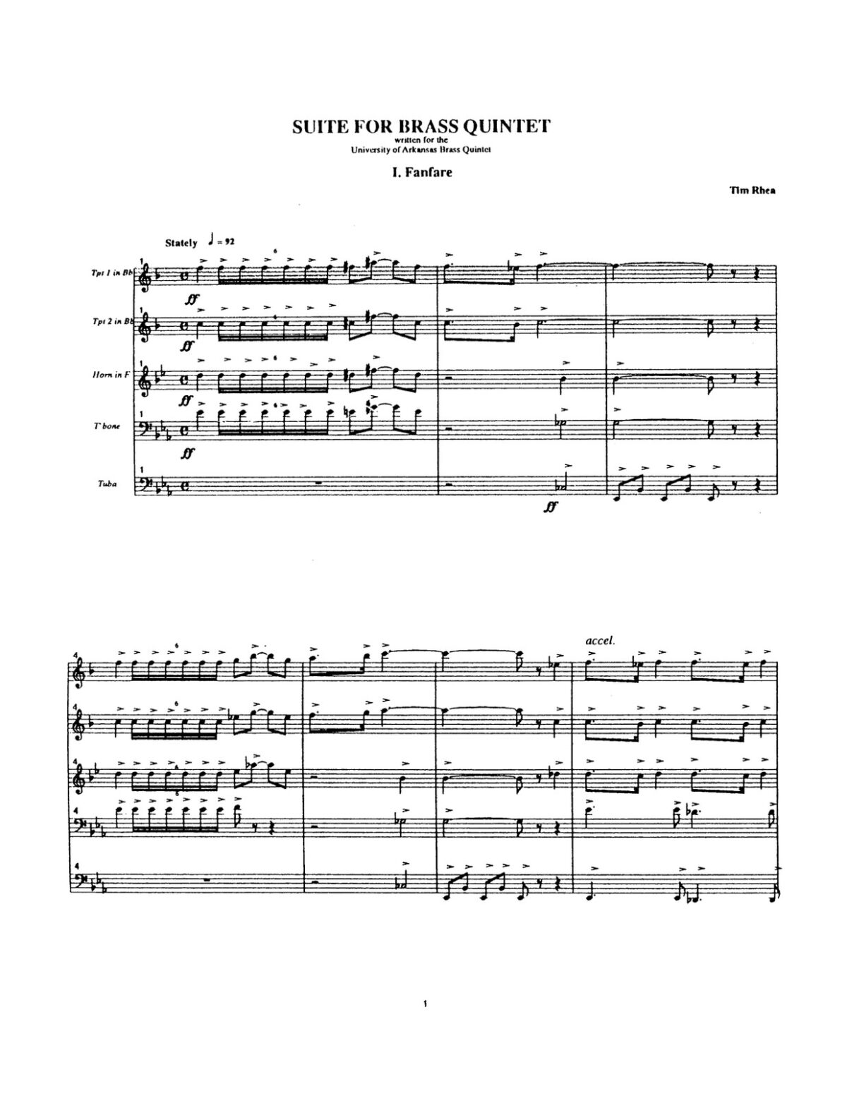 Rhea, Suite for Brass Quintet-p39