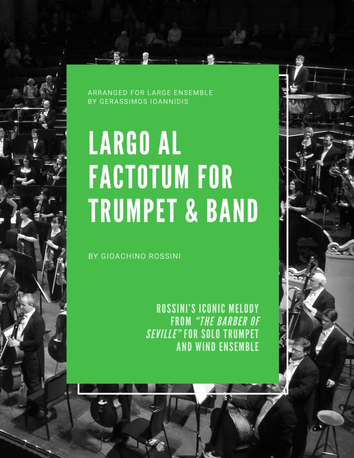Rossini, Largo al Factotum for Trumpet and Band-p001