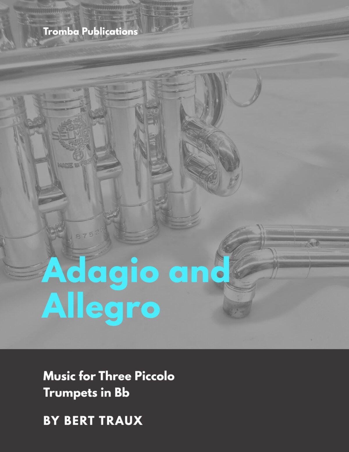 Traux, Adagio and Allegro for 3 Piccolo Trumpets-p1