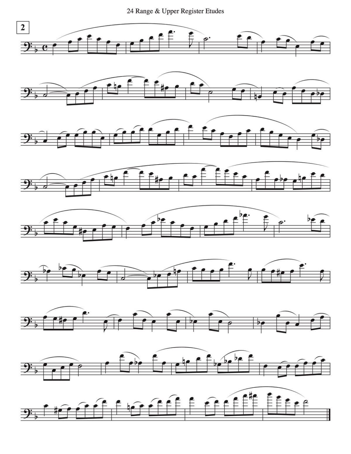 Veldkamp, 24 High Range Studies for Trombone-p04