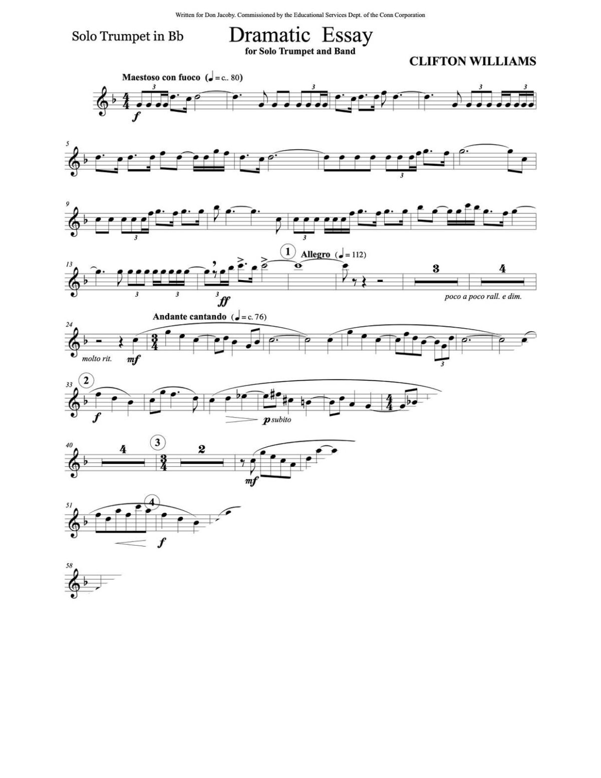 Williams, Dramatic Essay for Trumpet and Wind Ensemble-p03