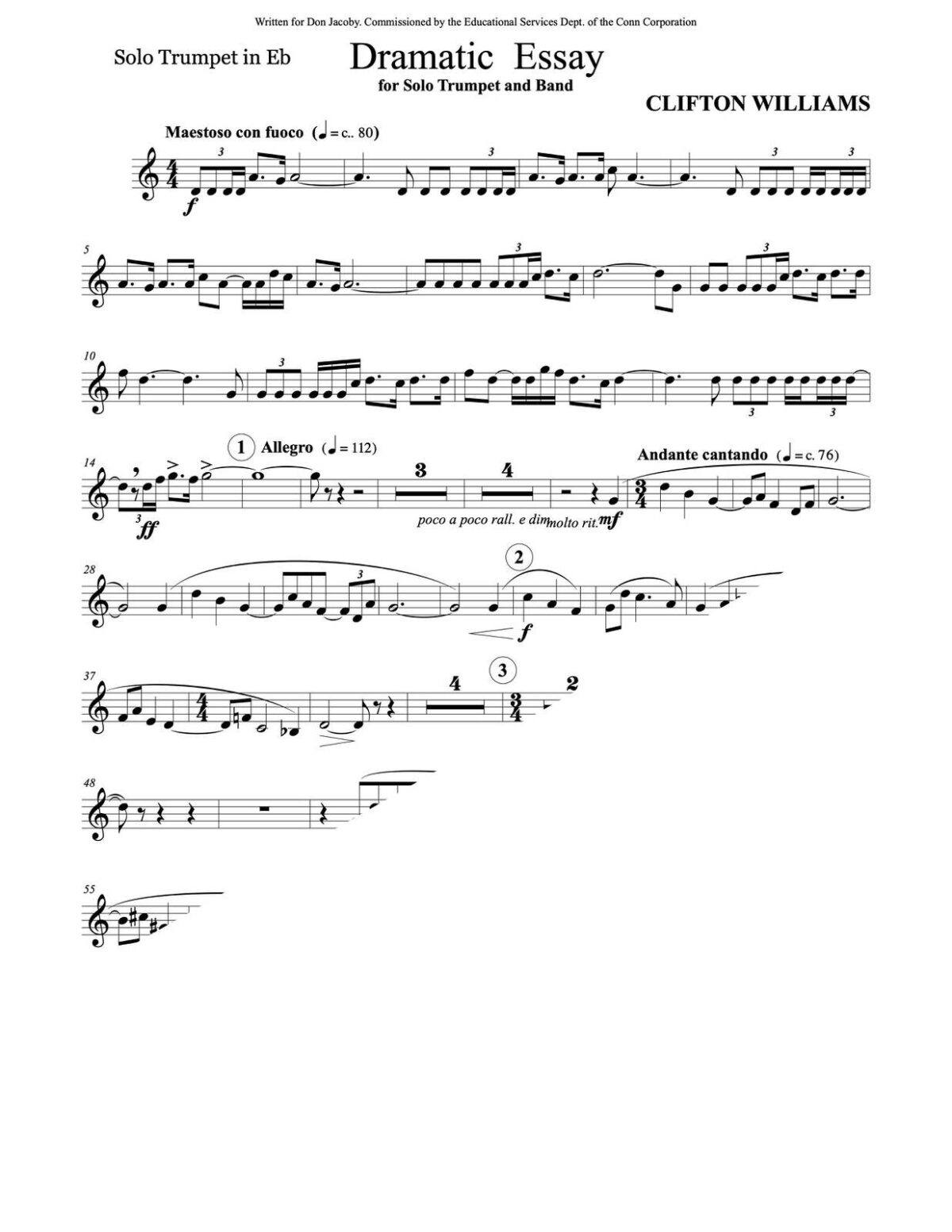 Williams, Dramatic Essay for Trumpet and Wind Ensemble-p05