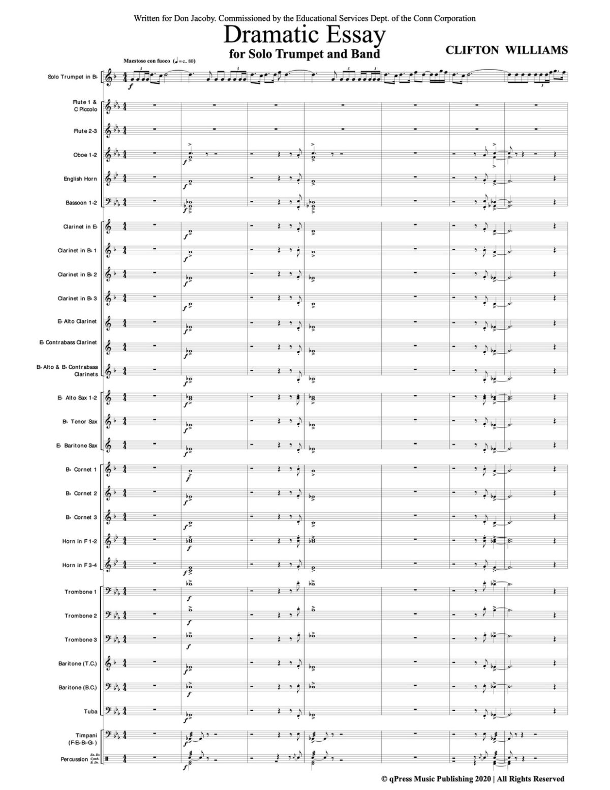 Williams, Dramatic Essay for Trumpet and Wind Ensemble-p67