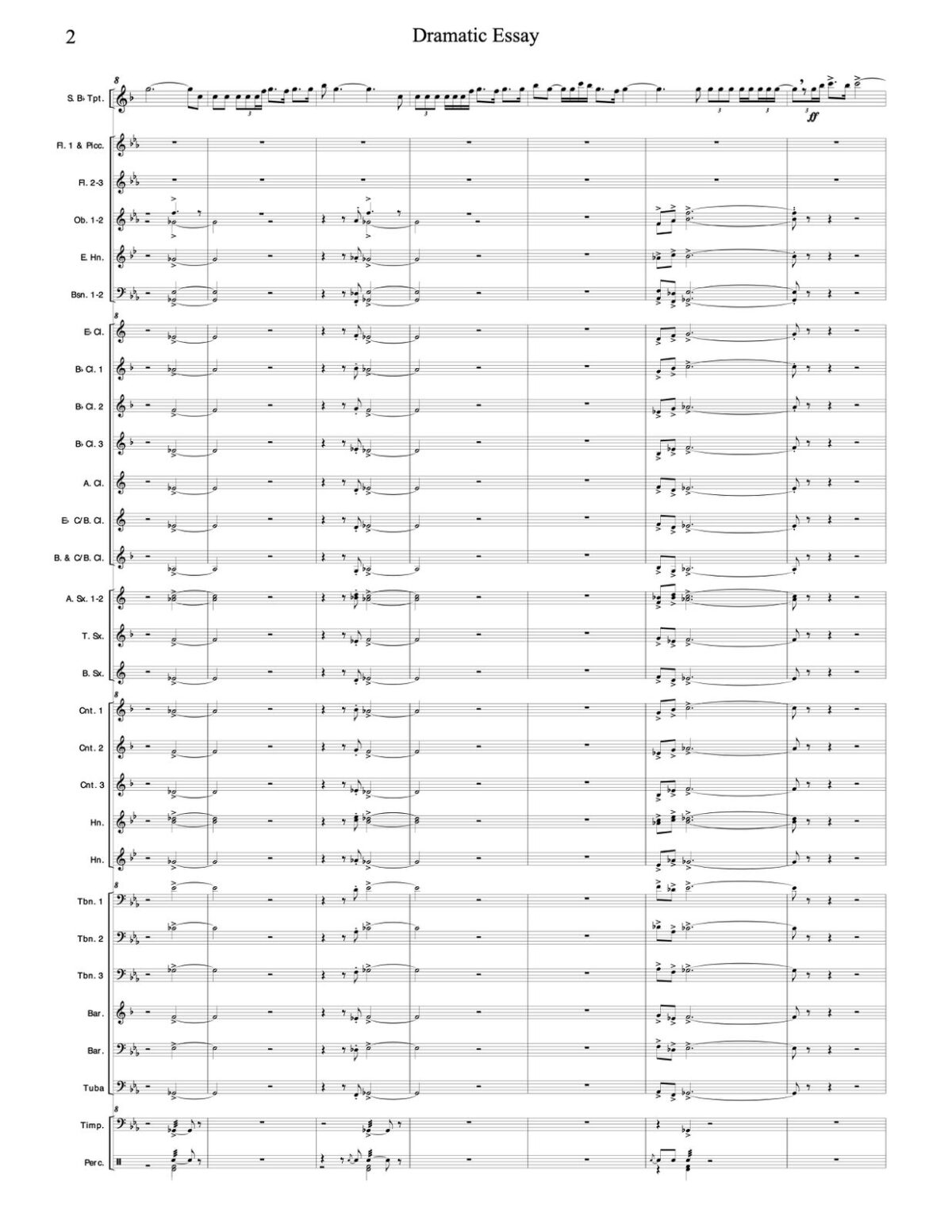 Williams, Dramatic Essay for Trumpet and Wind Ensemble-p68