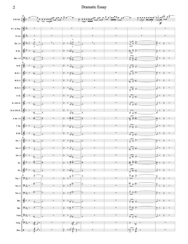 Dramatic Essay for Trumpet and Wind Ensemble