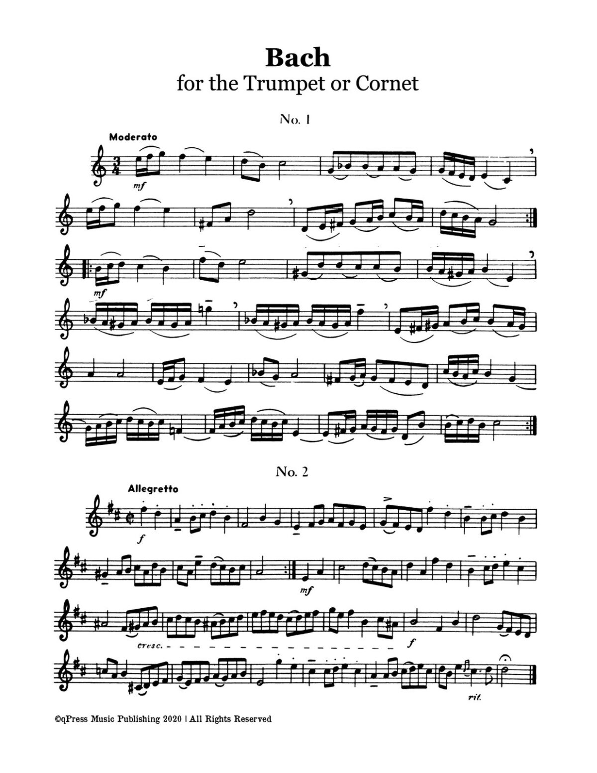 Bach-Gisondi, Bach for the Trumpet or Cornet-p05