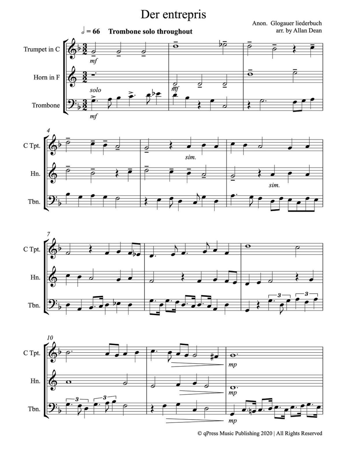Dean, Music from the Glogauer Leidderbuch-p17