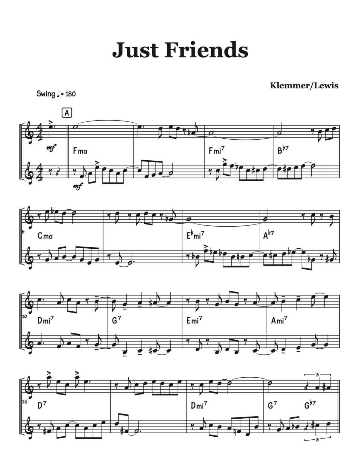 Veldkamp, Jazz Standards Duets Vol.1-p14