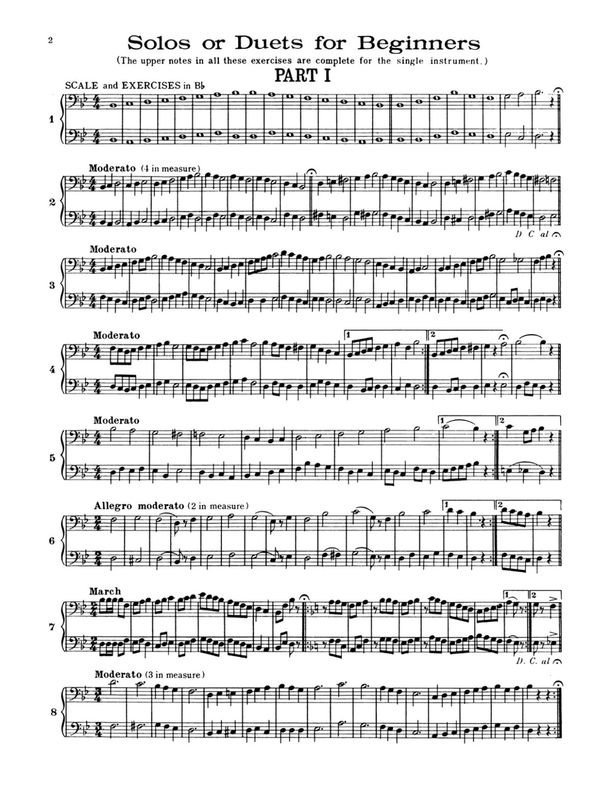 Amsden, Celebrated Practice Duets Bass Clef-p06