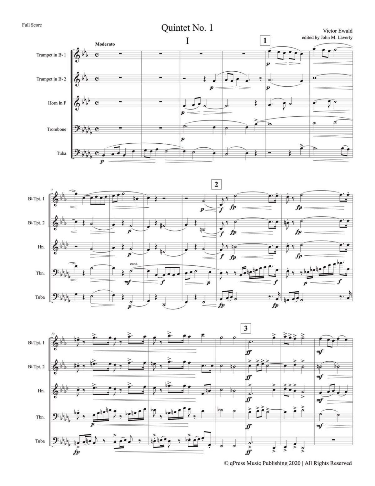 Ewald, Quintet No.1 (Score & Parts)-p03