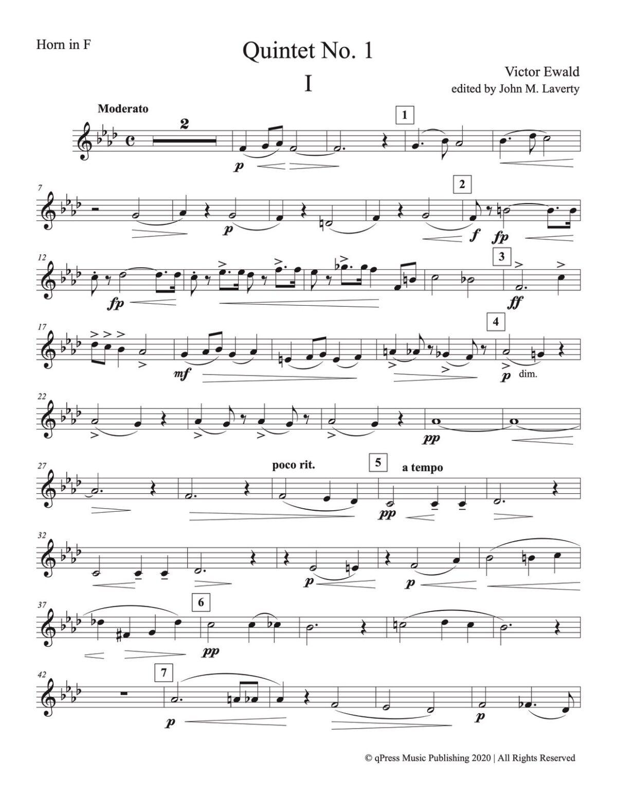 Ewald, Quintet No.1 (Score & Parts)-p49