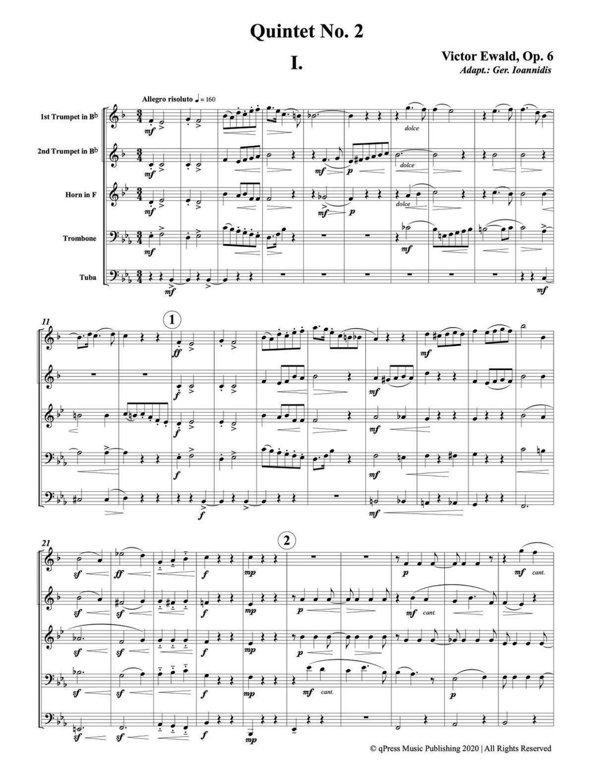 Ewald, Quintet No.2 (Score & Parts)-p003