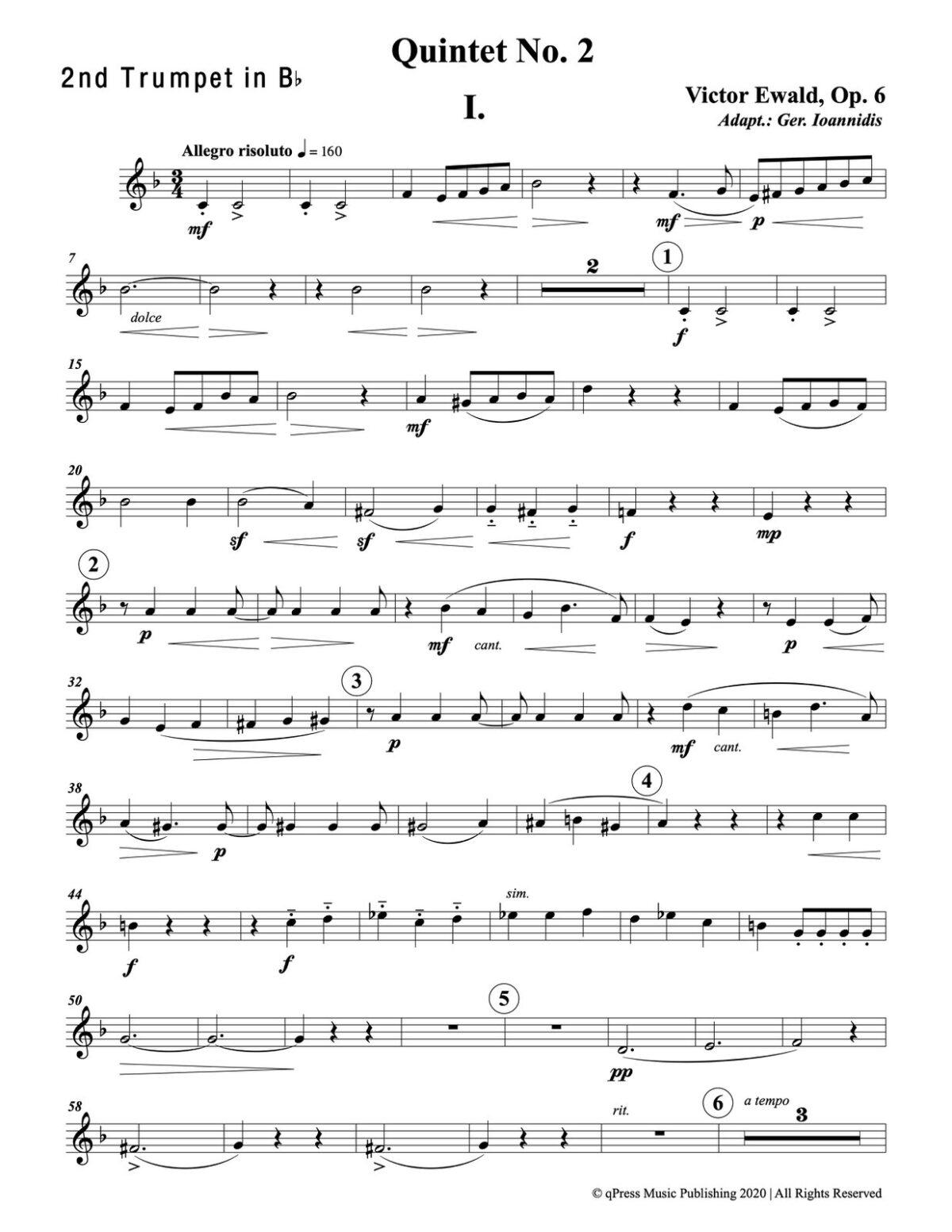 Ewald, Quintet No.2 (Score & Parts)-p061