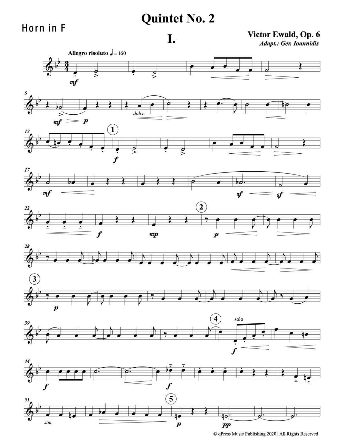 Ewald, Quintet No.2 (Score & Parts)-p075