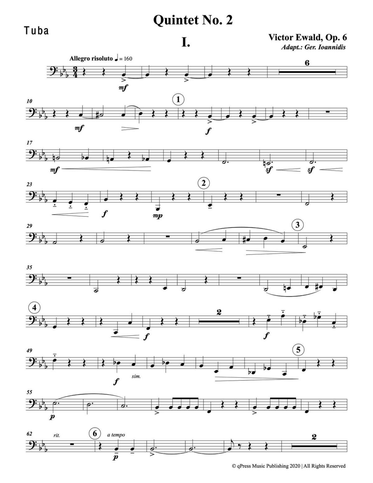 Ewald, Quintet No.2 (Score & Parts)-p103