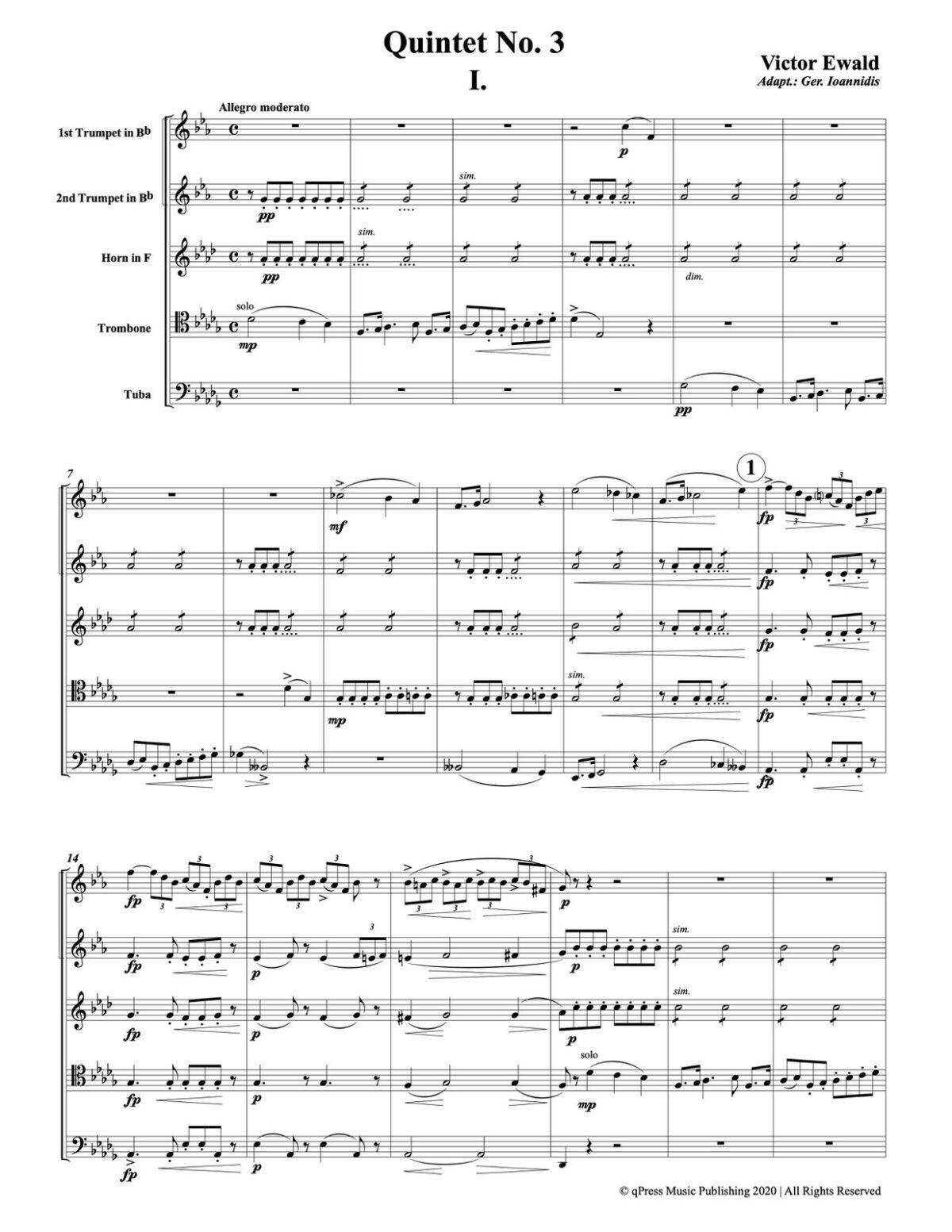 Ewald, Quintet No.3 (Score & Parts)-p003