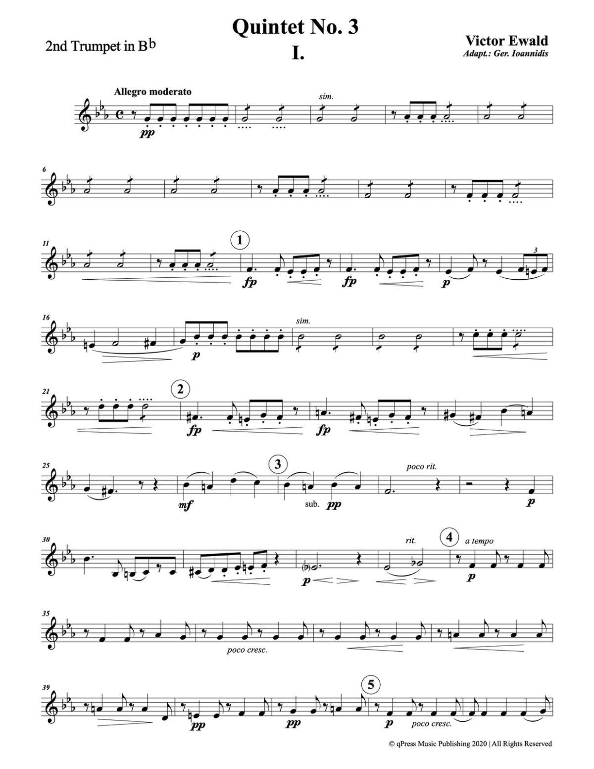 Ewald, Quintet No.3 (Score & Parts)-p061