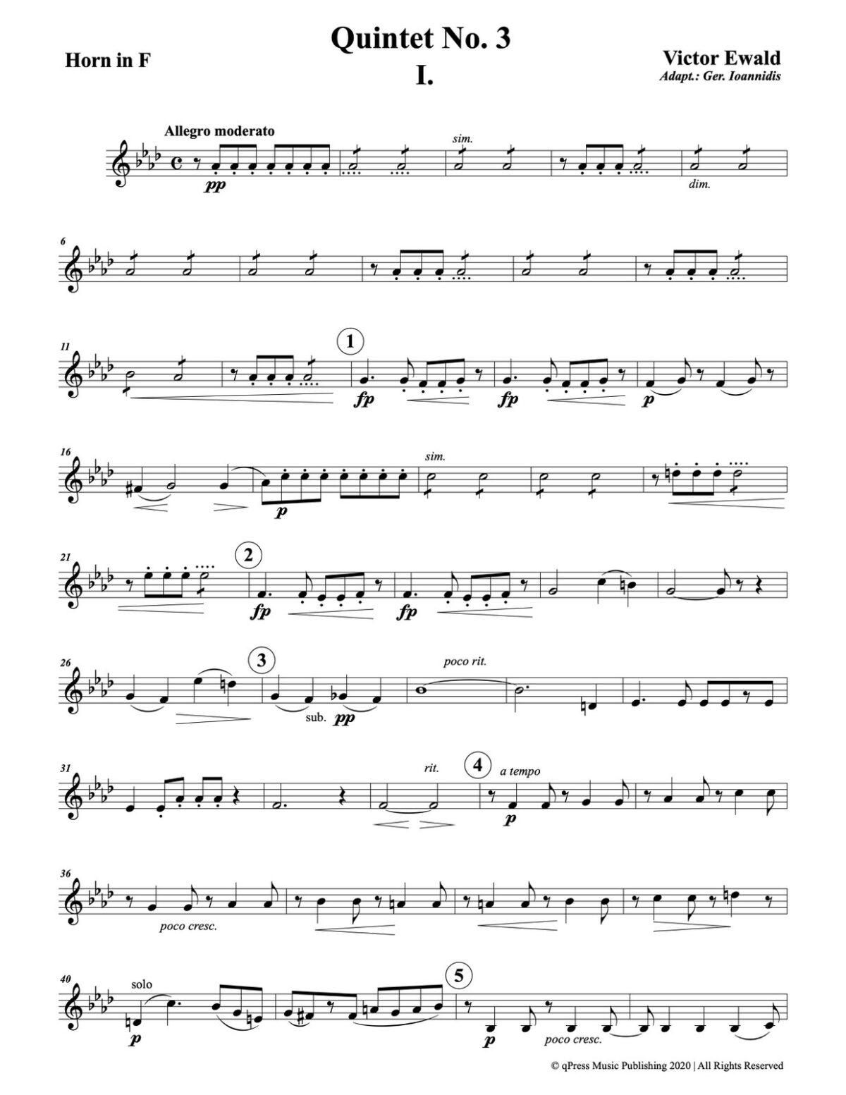 Ewald, Quintet No.3 (Score & Parts)-p075