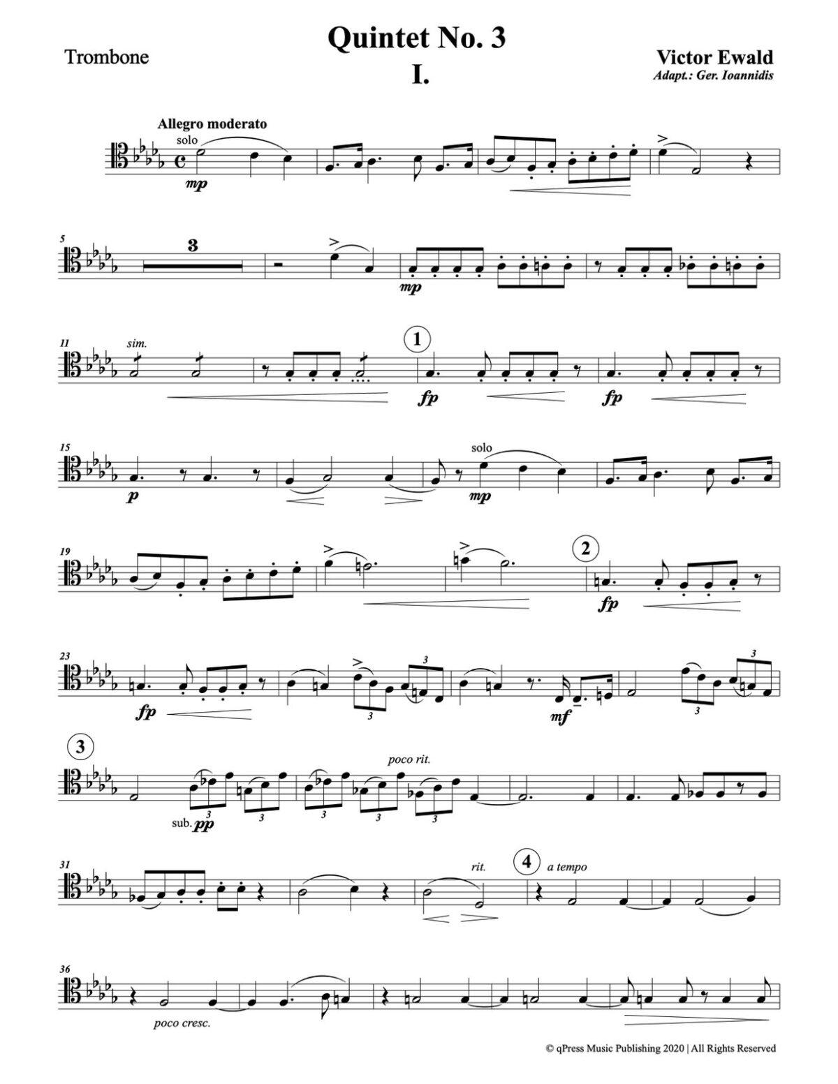 Ewald, Quintet No.3 (Score & Parts)-p089