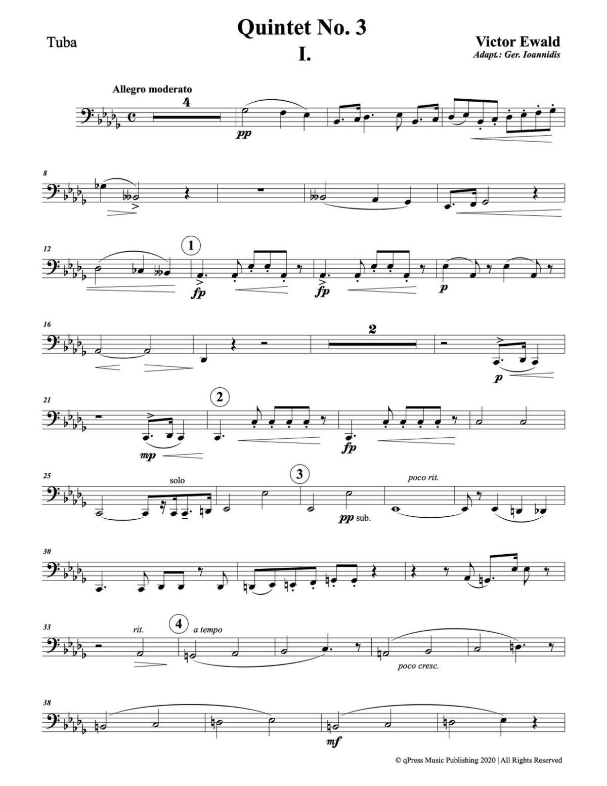 Ewald, Quintet No.3 (Score & Parts)-p103