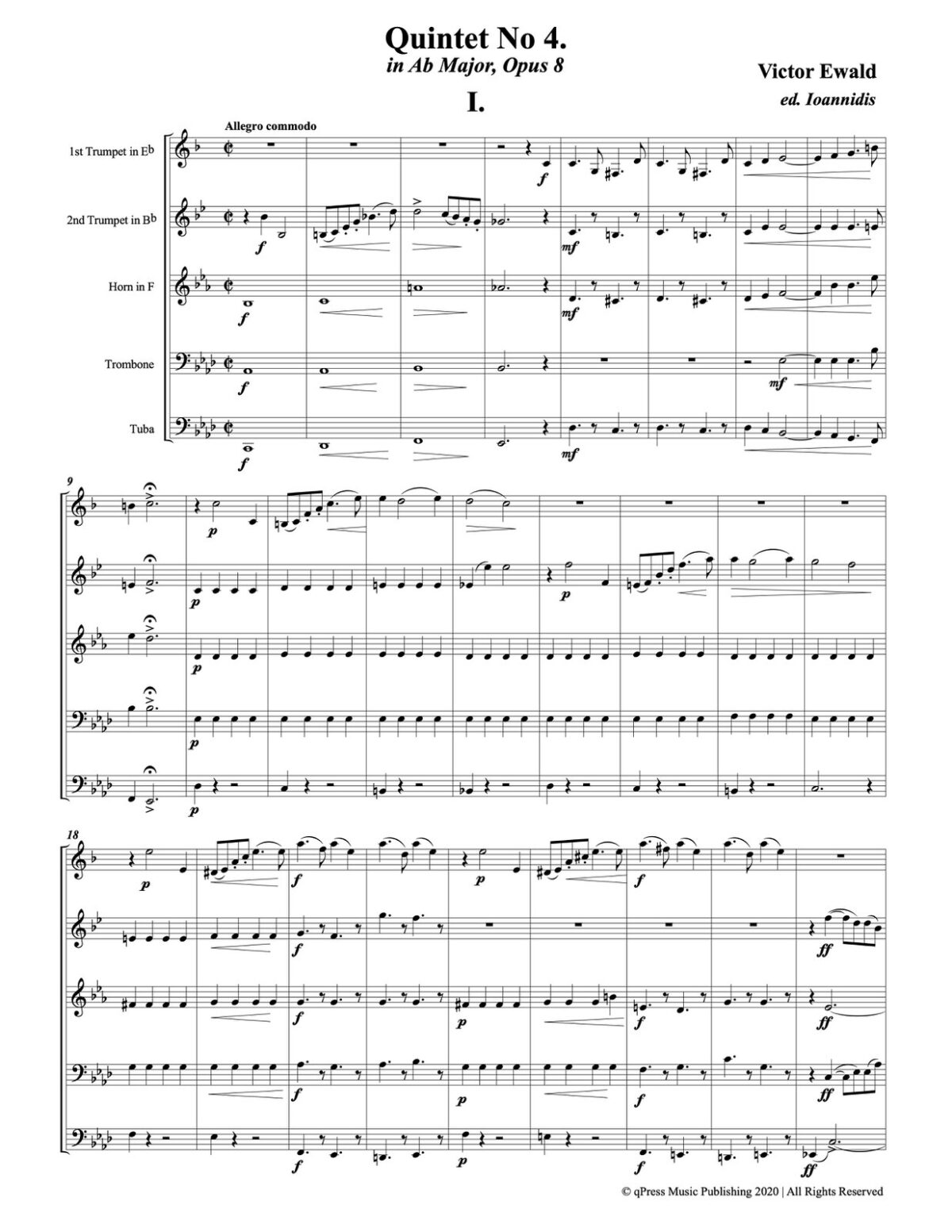 Ewald, Quintet No.4 (Score & Parts)-p003