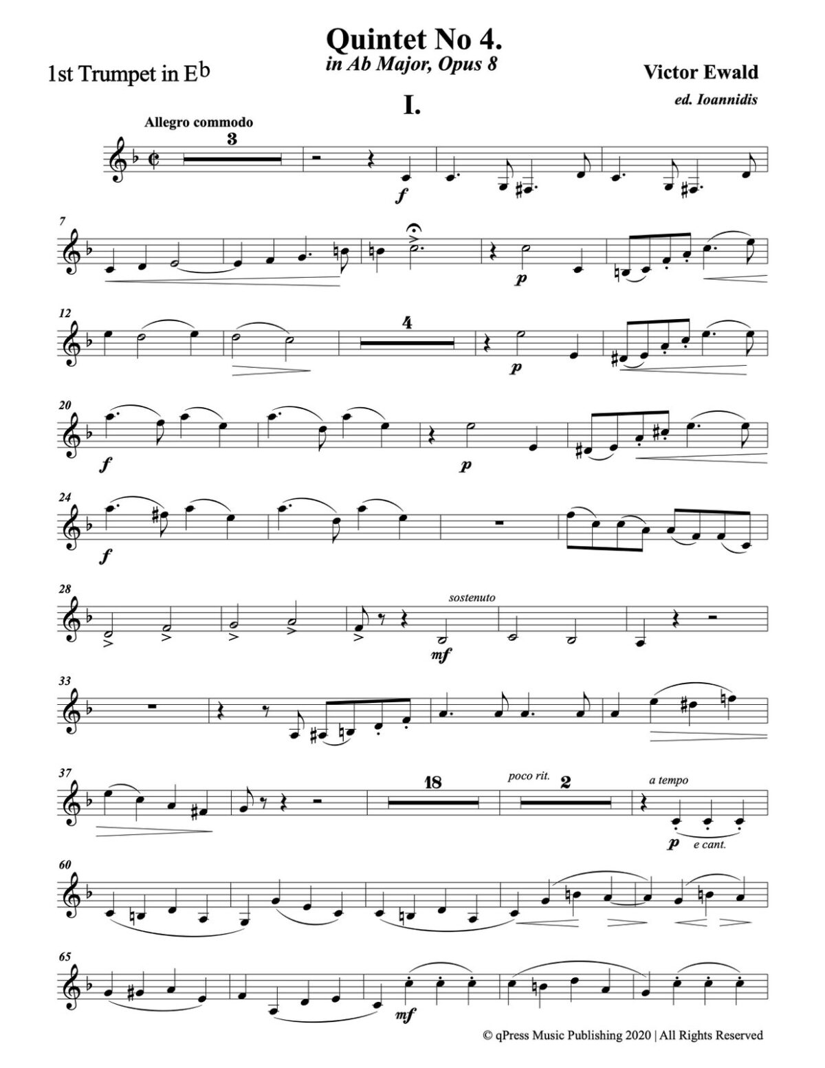 Ewald, Quintet No.4 (Score & Parts)-p071