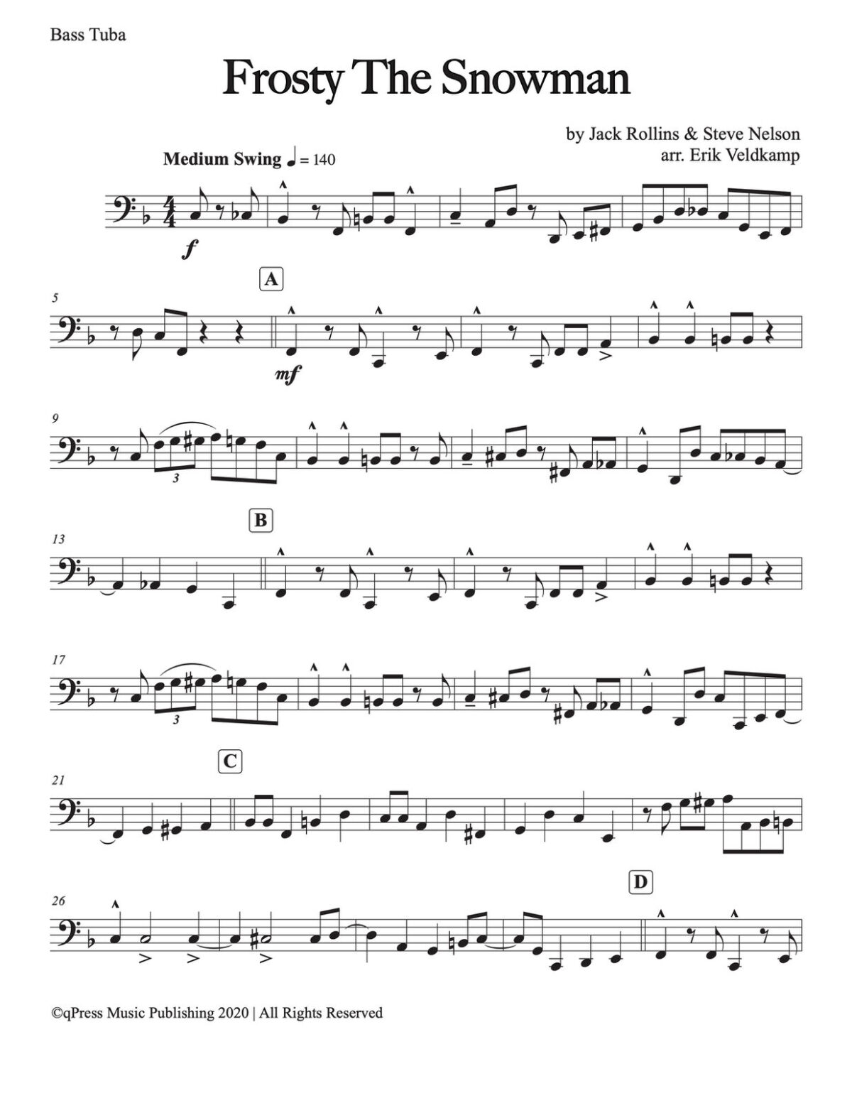 Veldkamp, 15 Popular Christmas Trios (Bb Tuba)