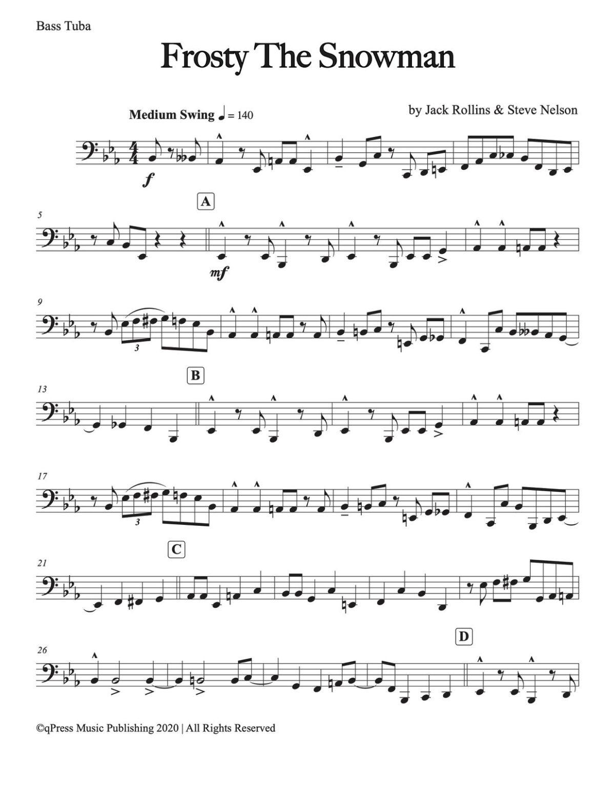 Veldkamp, 15 Popular Christmas Trios (C Tuba)