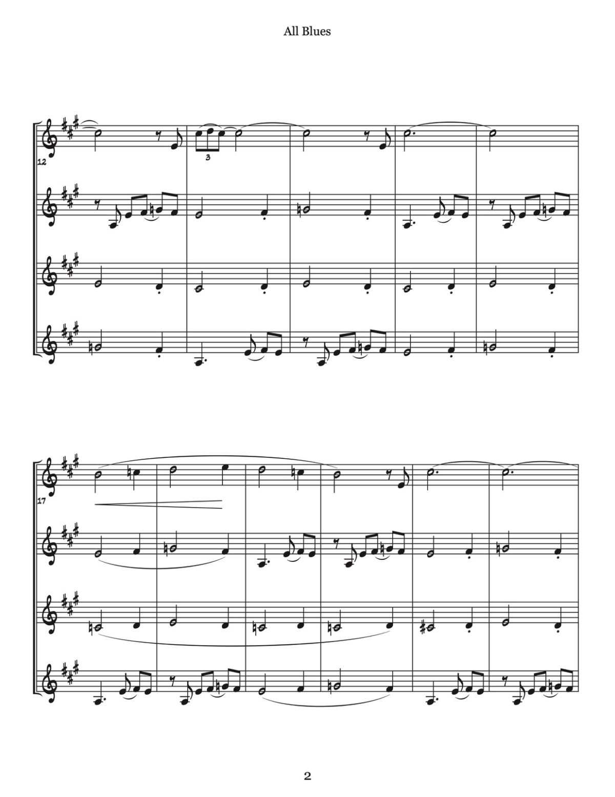 Veldkamp, Swinging Trumpet Quartets Vol.3 (Score)-p09